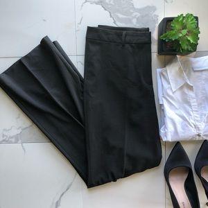 Theory Dark Brown Wool Blend Boot Cut Dress Pants